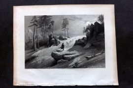 Fisher (Pub) 1844 Antique Print. Choor Mountains, India